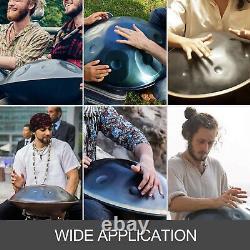 9 Notes Hand Drum Handpan 22 D Minor Hand Pan Carbon Steel Tongue Musical + Bag