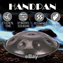9 Notes Tongue Percussion Hand Pan Handpan Tongue Steel Hand Drum Music Yoga Kit