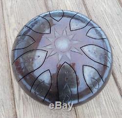 9 Steel Tongue Drum Sun (Tankdrum, handpan, pan drum, hank drum)