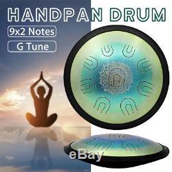 9x2 Notes G Tone Pro Hand Pan Handpan Carbon Steel Tongue Hand Tank Drum + Bag