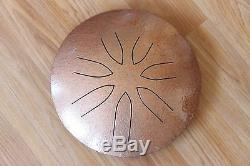 Ajna 10 7 Tone Hammered Copper Steel Tongue Drum Pentatonic Scale USA Made