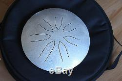 Ajna 10 7 Tone Hammered Silver Steel Tongue Drum Pentatonic Scale USA Made