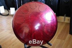 Ajna 14 18 Tone Red Halo Double Sided Steel Tongue Drum + Case USA Made