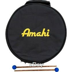 Amahi Steel Tongue Drum 12 steel drum Green withBag & Mallets, D Major Pentatonic