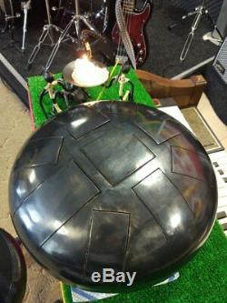 Bass Tank drum Dark Aegean(B) E G B C E F# G A steel tongue drum hand pan