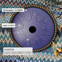 BeatRise Tongue Drum 14 Inch 14 Notes Steel Tongue Drum Hang Drum Instrument