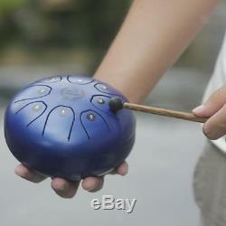 Blue Stainless Steel Tongue Drum Handpan Mallets Bag for Yoga Meditation