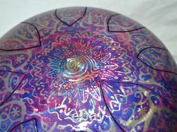 CUSTOMISED steel tongue drum hank handpan 12' (30cm) 528hz for love- UK handmade