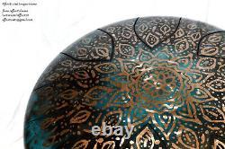CUSTOMISED steel tongue drum (hank tank or handpan) 12' (30cm) Handmade UK