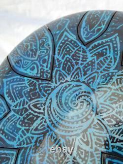 CUSTOMISE steel tongue drum hank 12' (30cm) Pentatonic F# 432hz handmade in UK