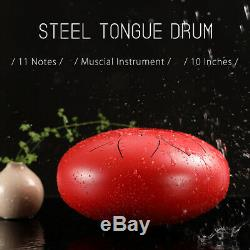 DHL Fast Shipping 12 Inch Steel Tongue Drum Handpan Hand Tankdrum With Bag Mallets