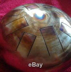 D Celtic Minor, Hand Made, 12, Steel Tongue Drum, Tank Drum, Hank Tank