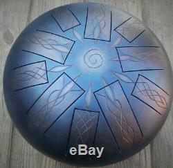 Double-side, 20-tones Handmade Steel Tongue Drum 30cm, 12in Tankdrum Hank Drum