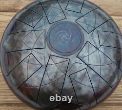 Double-side, C20-tones Handmade Steel Tongue Drum 30cm, 12in Tankdrum Cosmos