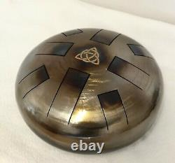 E Celtic minor, Steel Tongue Drum, Tank drum, Hand Made, Beaters, Trinity Knot