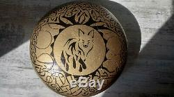 FOX Steel Tongue Drum Trommel Hand Pan Drum Ethno Meditation Hand Pan Stahl