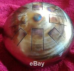 F Celtic Minor, Hand Made, 12, Steel Tongue Drum, Tank Drum, Hank Tank