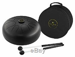 Fabelhafte Steel Tongue Drum in A-Moll mit 2 Gummi-Schlegeln & Gigbag, Schwarz