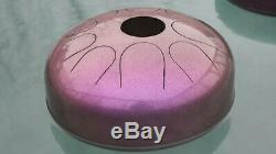 Floating Steel Tongue Drum, E Big Bear, Chameleon Cherry, 12 Handpan, USA
