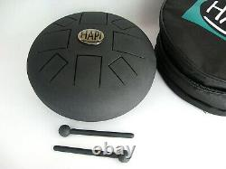 HAPI 12 Slim Steel Tongue Drum G-MAJOR with Mallets, Bag, and Instructions