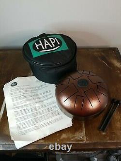 HAPI HDMINIDAKE Mini Steel Tongue Percussion Drum D Akebono/Free Padded Bag