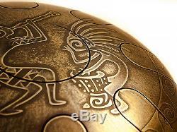 Hand Drum Drum HandPan Steel Tongue Vibedrum Handmade w 30sm YU SHAN DIAO