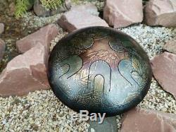 Hand Pan Steel Tongue Drum 12 Notes Sound Healing and Meditation Gift Ø 330 mm