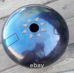 Handmade Steel Tongue Drum, 22cm, 8,6in, Tankdrum, Hank Drum, Alatyr