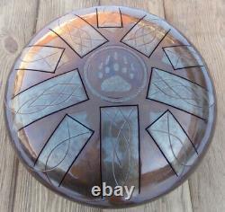 Handmade Steel Tongue Drum, 30cm, 12in, Step, Tankdrum, Hank Drum
