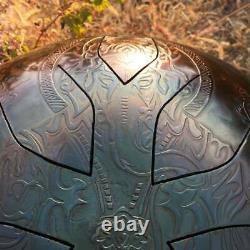 Handpan Ganesha Steel Tongue Drum 10 Notes Sound Healing and Meditation Ø 330 mm