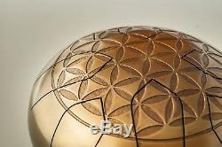 Handpan Handmade Steel Tongue Tank Drum Folk Flower of Life Ø 220mm