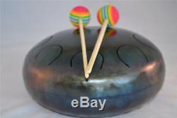 Handpan Steel Tongue Drum Tank 9 Tones 21 cm 8,3 + Free Sticks Bag Amazing Sound