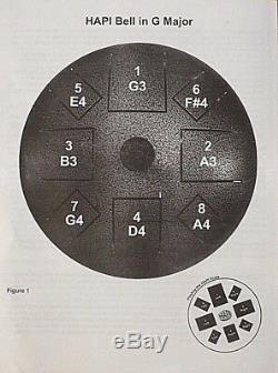 Hapi Drum Bell F dur Klangschale Handpan tankdrum Steel Tongue Drum Zubehör