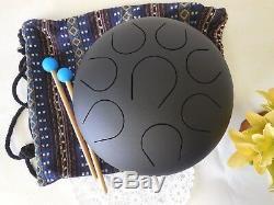 Holiday gift 10 Steel Tongue Drum/Tank Drum FREE Bag & 2 sticks Healing sound