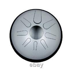 Idiopan 12 Domina Steel Tongue Drum with Sticks & Display Ring Pearl
