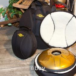Idiopan 12 Domina Steel Tongue Drum with Sticks & Gig Bag Pearl