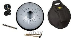 Idiopan 12 Domina Steel Tongue Drum with Sticks, Magnet Pack, Gig Bag & Tuner