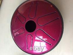 Idiopan Bella 6'' Tunable Steel Tongue Drum Instrument, Magenta. Rare colour