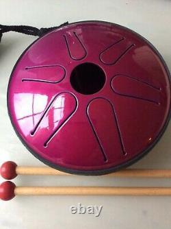 Idiopan Bella 6'' Tunable Steel Tongue Drum, Magenta Christmas gift idea RARE