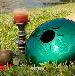 Idiopan Domina 12 Tunable Steel Tongue Drum Emerald Green