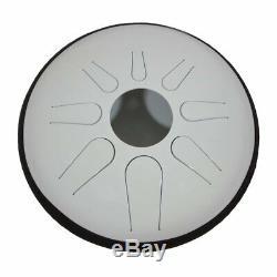 Idiopan Domina 12-inch Tunable Steel Tongue Drum Glow-in-the-dark White