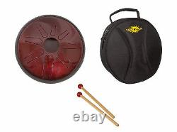 Idiopan Lunabell 8 Steel Tongue Drum Ruby Red with Bag & Sticks