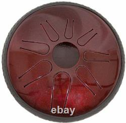 Idiopan Lunabell 8 Tunable Steel Tongue Drum Ruby Red