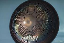 KSY. 30. C-3 Steel tongue drum 30cm half-round tongues Am Kosmosky