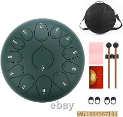 KUDOUT 12Inch Steel-Tongue Drum C Major, 13Notes Pan Drum/Drums for Adults Kids