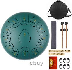 KUDOUT 12 Inch Steel Tongue Drum C Major, 13 Notes Hand Pan Drum for Adults Kids