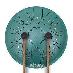 KUDOUT Steel Tongue Drum 12 inches 13 Notes Percussion Instrument C Major, Drum