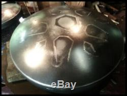 LotusDrum HANDCRAFTED in Austin, TX! Steel tongue drum Handpan Hank Tank