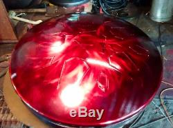 LotusDrum HANDCRAFTED in Austin, TX! Steel tongue drum Handpan Hank Tank