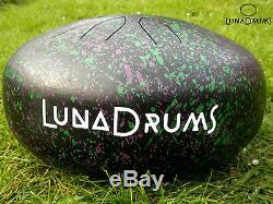 LunaDrum 13- perfect tuning steel tongue handpan drum tank hank